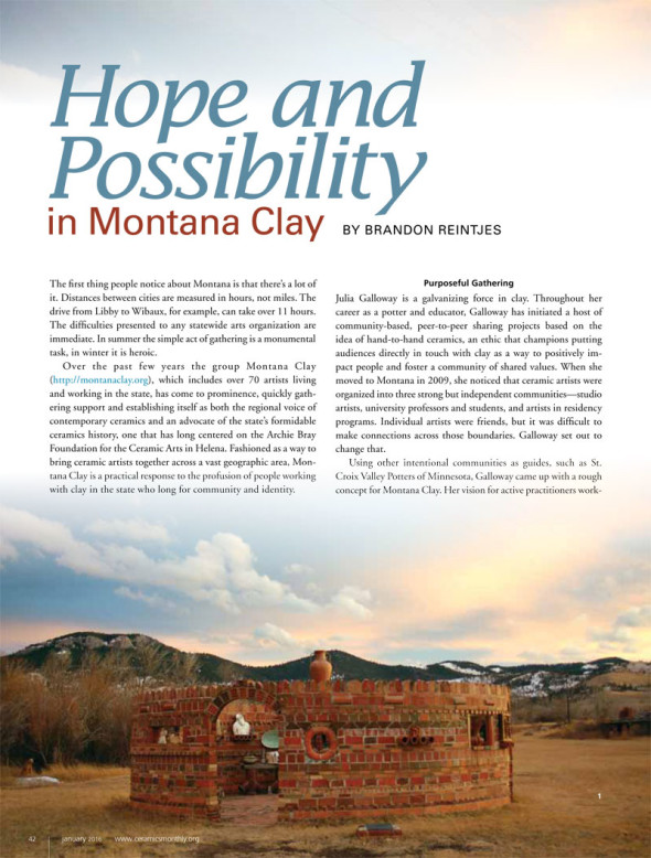 Hope and Possibility in Montana Clay